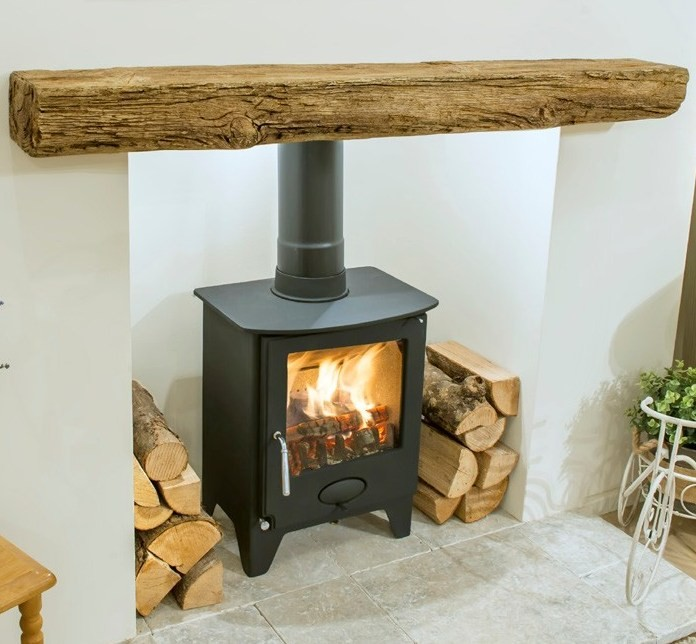 Bideford Oak Effect Concrete Beam Newman Fireplace