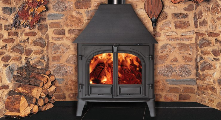 Stovax Stockton 8 Wood Burning Stove Two Door High Canopy